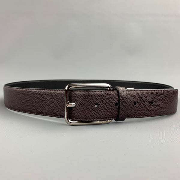 SALVATORE FERRAGAMO Size 40 Brown Leather Belt