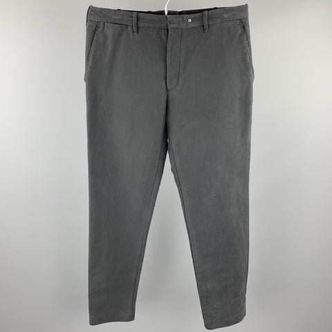 RAG & BONE Size 33 Charcoal Cotton / Nylon Zip Fly Casual Pants