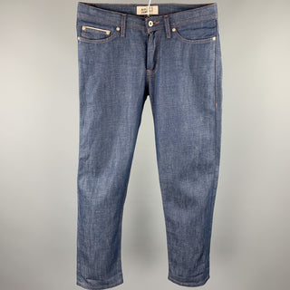 NAKED AND FAMOUS Weird Guy Size 31 Indigo Selvedge Denim Jeans