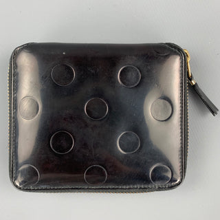 COMME des GARCONS Black Patent Leather Wallet