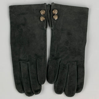 RALPH LAUREN Size S Black Suede Gloves