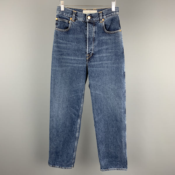 GOLDEN GOOSE Size 2 Blue Washed Wide Leg KIM Jeans