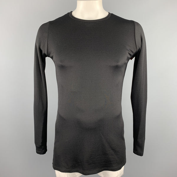 JUDSON HARMON Size L Black Poliammide Crew-Neck Long Sleeve T-shirt