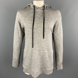 PUBLIC SCHOOL Size L Grey Heather Cotton Hooded Sweatshirt
