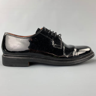 FLORSHEIM for Duckie Brown Size 10.5 Black Patent Leather Lace Up Shoes