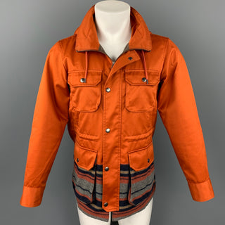 OPENING CEREMONY Size S Orange Mixed Fabrics Cotton / Wool Hooded Jacket
