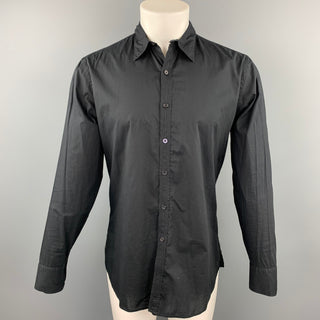 PAUL SMITH Size M Black Cotton Button Up Long Sleeve Shirt