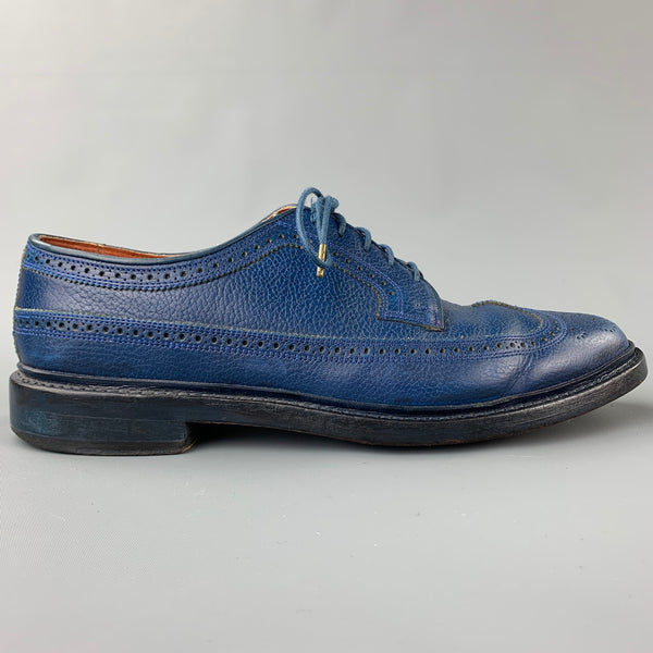 FLORSHEIM for Duckie Brown Size 10.5 Royal Blue Perforated Leather Lace Up Shoes