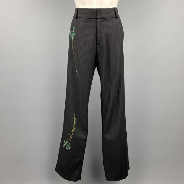 LIBERTINE Size S Black Crystal Embellishment Dress Pants