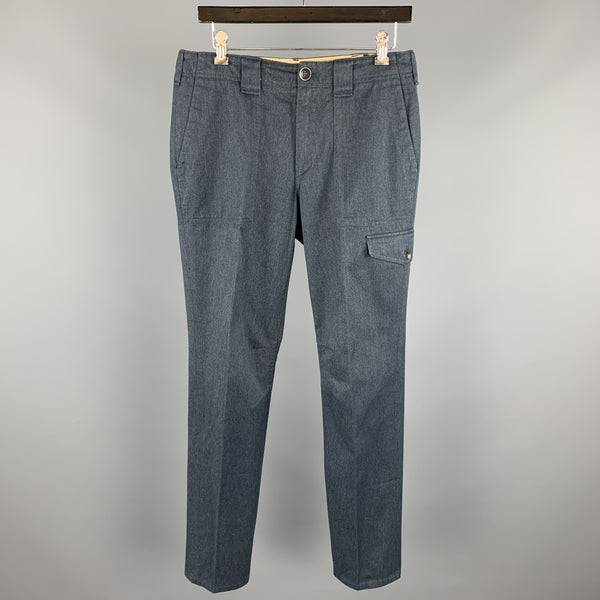 RAG & BONE Size 30 Dark Gray Solid Cotton / Polyester Zip Fly Casual Pants