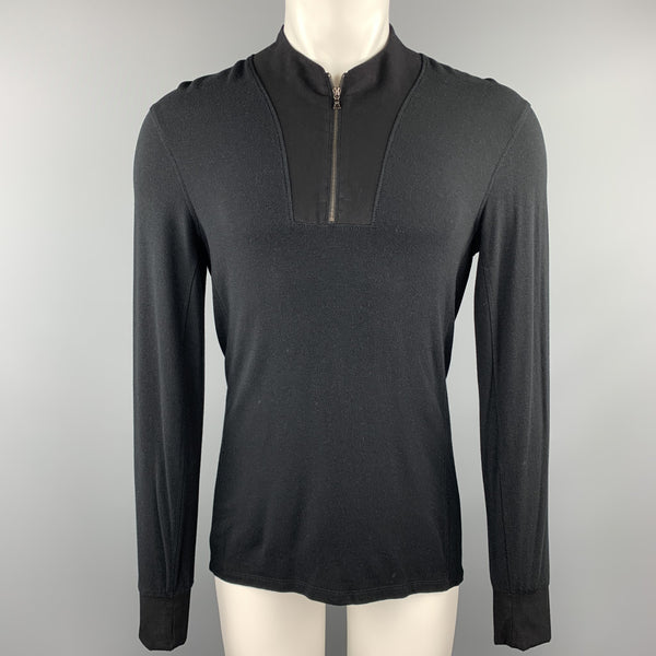 KIT AND ACE Size S Black Modal Blend Half Zip Pullover