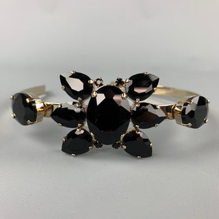 MARNI Black & Gold Diamante Rhinestones Headband