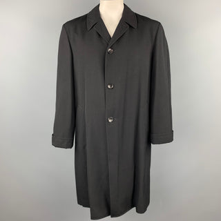 COMME des GARCONS HOMME PLUS Size L Black Relaxed Wool Buttoned Coat