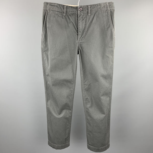 8.15 AUGUST FIFTEENTH Size 30 Slate Cotton Casual Pants