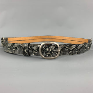 CALLEEN CORDERO Waist Size S Grey Faux Snakeskin Leather Belt