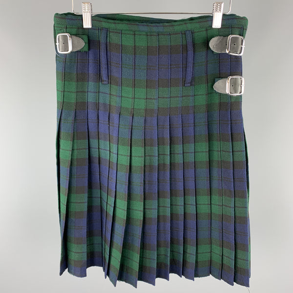 CUSTOM MADE Size 30 Blackwatch Plaid Wool Kilt