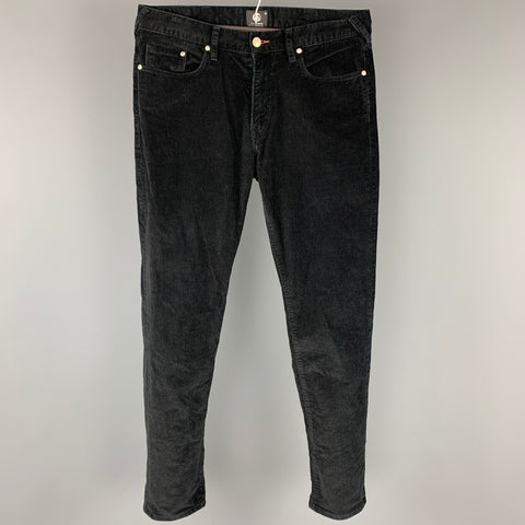 PS by PAUL SMITH Size 32 Black Corduroy Cotton Jean Cut Casual Pants