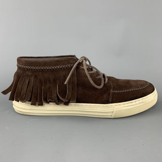 GUCCI Size US 8 Brown Solid Boot Sneakers