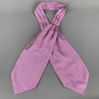 SHRINE Purple Dot Print Ascot