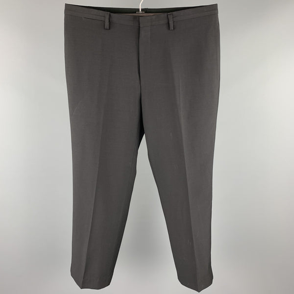 GUCCI Size 38 Black Wool / Mohair Zip Fly Dress Pants