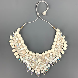 ROBERTA FREYMANN Off White Embellished Stone Handmade Necklace