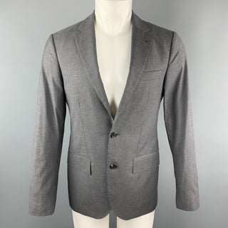 CLUB MONACO Size 38 Grey Stripe Regular Cotton Notch Lapel Sport Coat