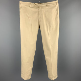 LORO PIANA Size 34 Khaki Cotton 29 Zip Fly Casual Pants