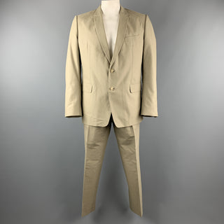 DRIES VAN NOTEN 46 Regular Khaki Cotton Suit