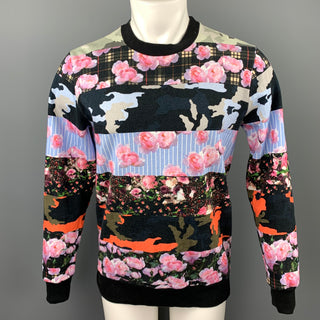 GIVENCHY Pre-Spring 2014 Size XS Multi-Color Print Cotton Crew-Neck Sweatshirt