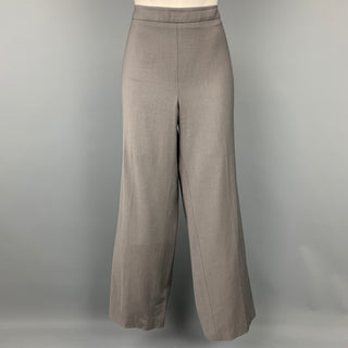 ARMANI COLLEZIONI Size 14 Grey Wool Blend Wide Leg Dress Pants