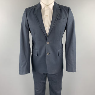ANN DEMEULEMEESTER 38 Regular Navy Cotton Notch Lapel Suit