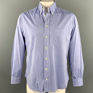 GITMAN VINTAGE Size L Light Blue Heather Cotton Button Down Long Sleeve Shirt