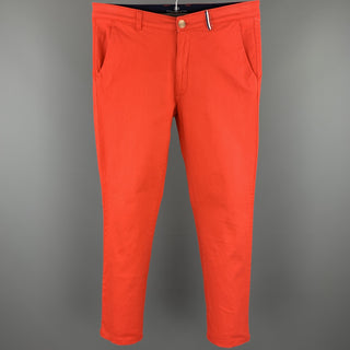 LE'CHAMP Size 29 Orange Cotton Zip Fly Casual Pants