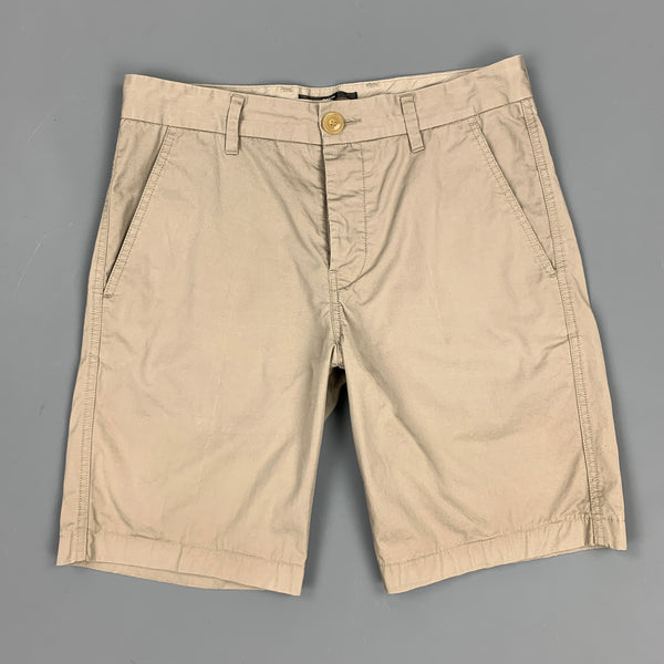FILIPPA K Size 30 Grey Cotton Button Fly Shorts