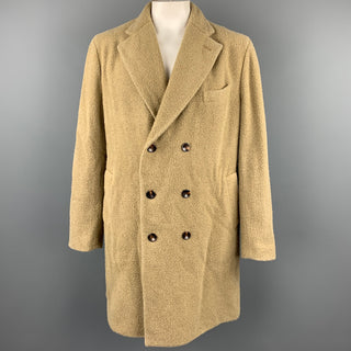 BOGLIOLI Size 46 Moss Textured Wool / Polyester Double Breasted Coat