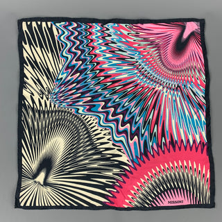 MISSONI Multi-Color Zig Zag Silk Pocket Square