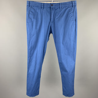 EREDI PISANO Size 30 Blue Cotton Zip Fly Casual Pants