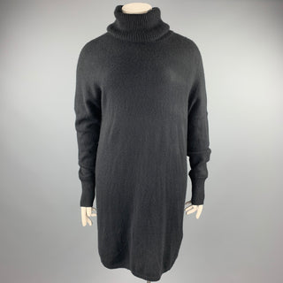 TSE Size L Black Knitted Cashmere Turtleneck Sweater Dress