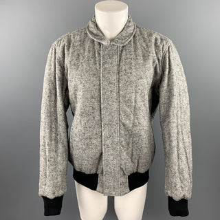 ADAM KIMMEL Size M Grey Heather Cotton Blend Zip Up Reversible Jacket