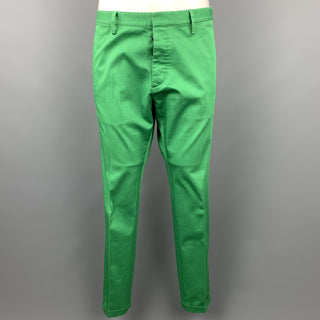 DSQUARED2 Size 34 Green Cotton Button Fly Casual Pants