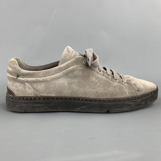 RAG & BONE Size 9 Grey Distressed Lace Up Sneakers