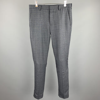 PRADA Size 30 Gray Wool Button Fly Dress Pants