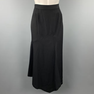COMME des GARCONS Size M Black Wool Asymmetrical A-Line Skirt