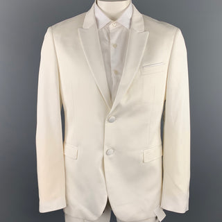 NEIL BARRETT Size 42 White Tencel Blend Peak Lapel Sport Coat