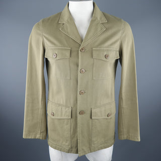 AGNES B. 38 Khaki Cotton Jacket