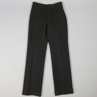 ALAIA Size 6 Black Wool Straight Leg  Dress Pants - Sui Generis Designer Consignment
