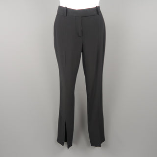ALEXANDER MCQUEEN Size 2 Black Acetate Blend  Dress Pants