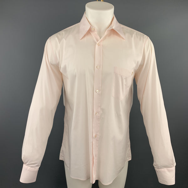 ALEXANDER MCQUEEN Size M Light Pink Button Up Long Sleeve Shirt