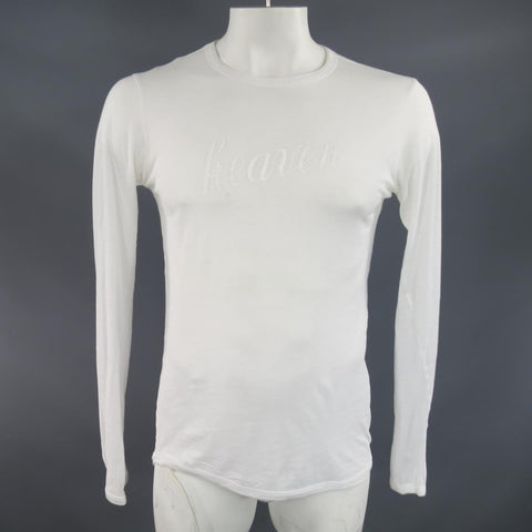 ANN DEMEULEMEESTER Size XS White Sheer Cotton Long Sleeve 'Heaven' T-shirt - Sui Generis Designer Consignment