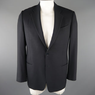 ARMANI COLLEZIONI 42 Regular Navy Solid Wool Blazer / Sport Coat - Sui Generis Designer Consignment